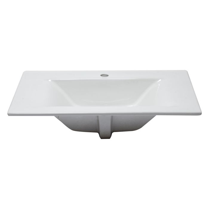 Eago Bb127 White Ceramic 32 X19 Rectangular Drop In Sink